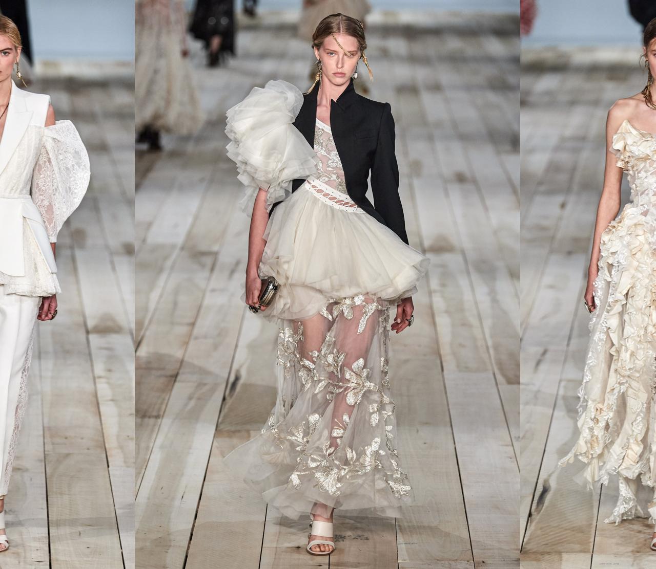 15 looks de novia salidos de la pasarela Alexander McQueen Spring 2021