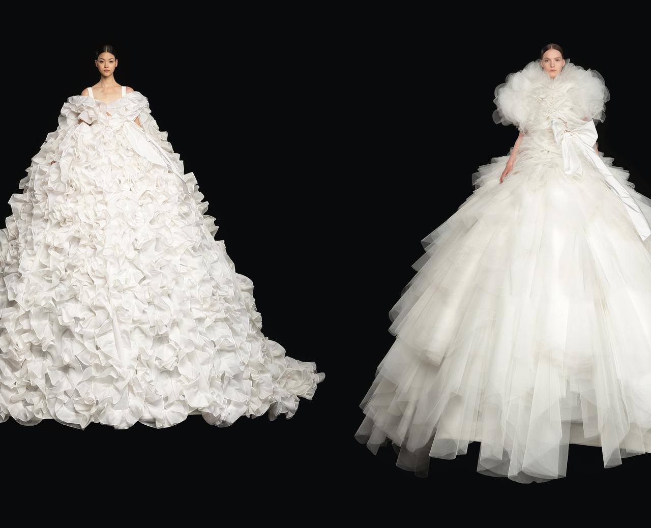 Valentino y los looks para novia más excepcionales de su colección alta costura