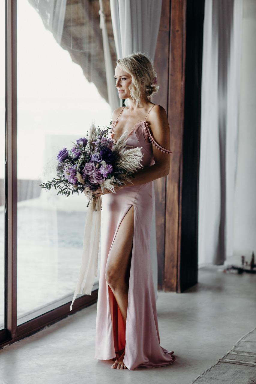 celebridades que vistieron un vestido de novia de color - Malin Akerman - Wedding Hub - 02