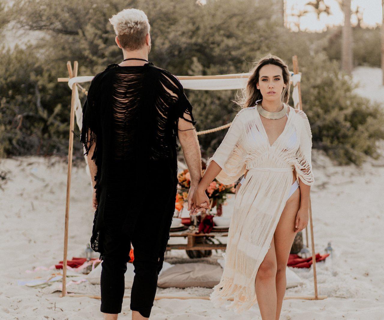 Modern Boho Elopement: Cancun Wedding Editorial